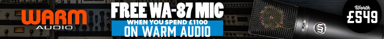 Free Black WA-87 Mic worth £549 FREE when you spend £1100 on Warm Audio gear!