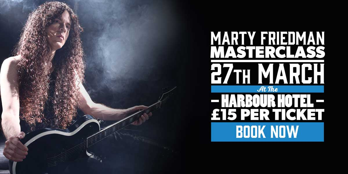 Andertons Music Co. Events - Marty Friedman Masterclass at The Harbour Hotel, Guildford