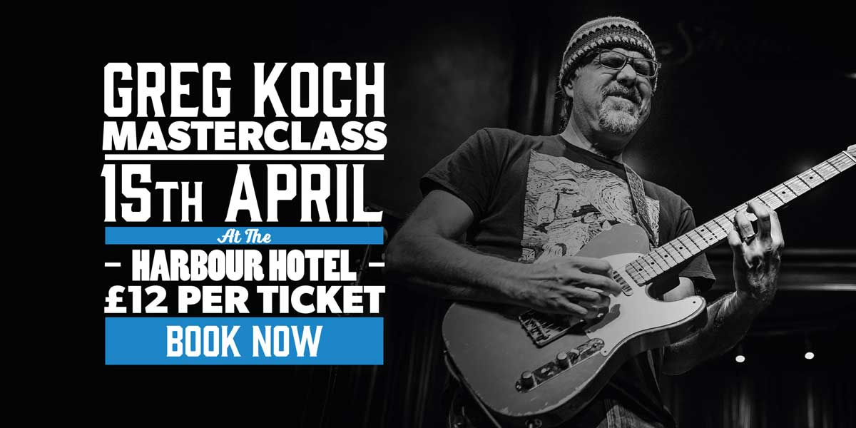 Andertons Music Co. Events - Greg Koch Masterclass at The Harbour Hotel, Guildford