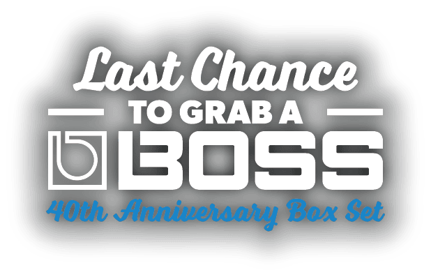Boss 40th Anniversary Pedals LAST CHANCE!