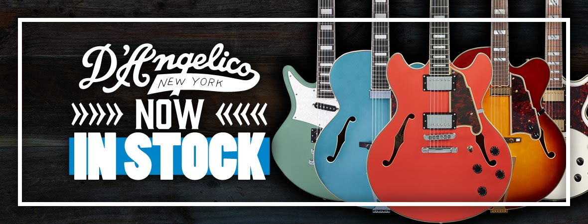 D'Angelico Guitars now in stock at Andertons Music Co.