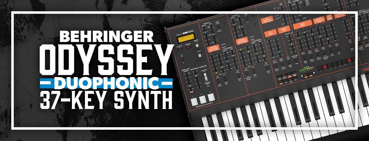 Behringer Odyssey 37-key Duophonic Analog Synthesizer - Andertons Music Co.