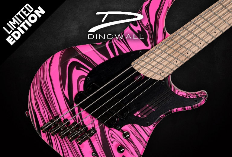 Limited Edition Dingwall NG-2 bass with hydro dip finish - Buy Now