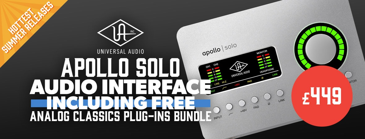 Universal Audio Apollo Solo Megamenu