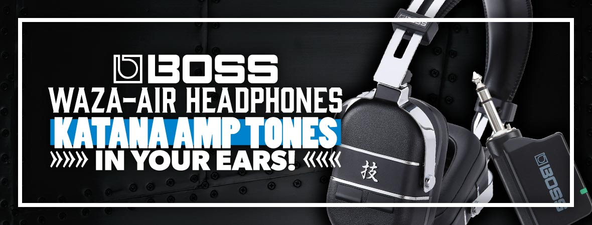 BOSS Waza-Air Wireless Guitar Amp Headphones at Andertons Music Co.
