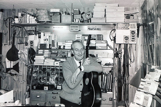 Andertons Music Co. in the 60s