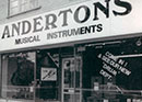 Andertons Music Co. in the 70s