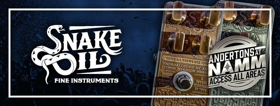 New Snake Oil Pedals at NAMM 2019