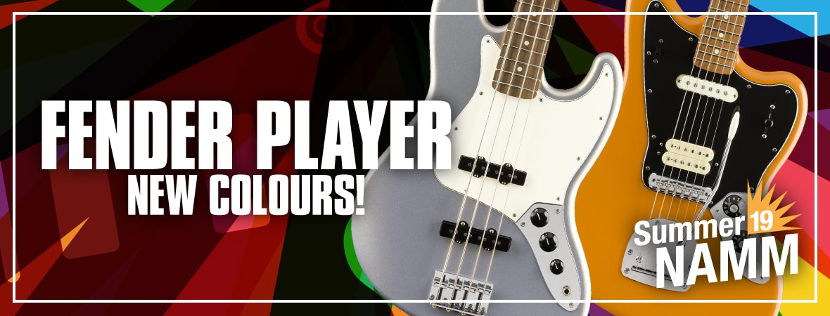 New Fender Player Series Colours at Summer NAMM 2019