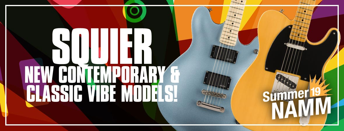 New Squier Contemporary & Classic Vibe Guitars at Summer NAMM 2019