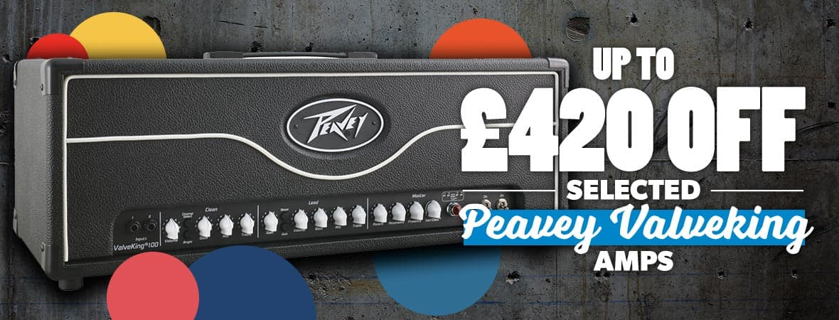 Summer Sale 2018 - Up to £420 off Peavey Valveking amps at Andertons Music Co!