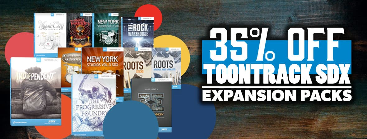 Summer Sale 2018 - 35% off Toontrack Superior Drummer Expansions at Andertons Music Co!