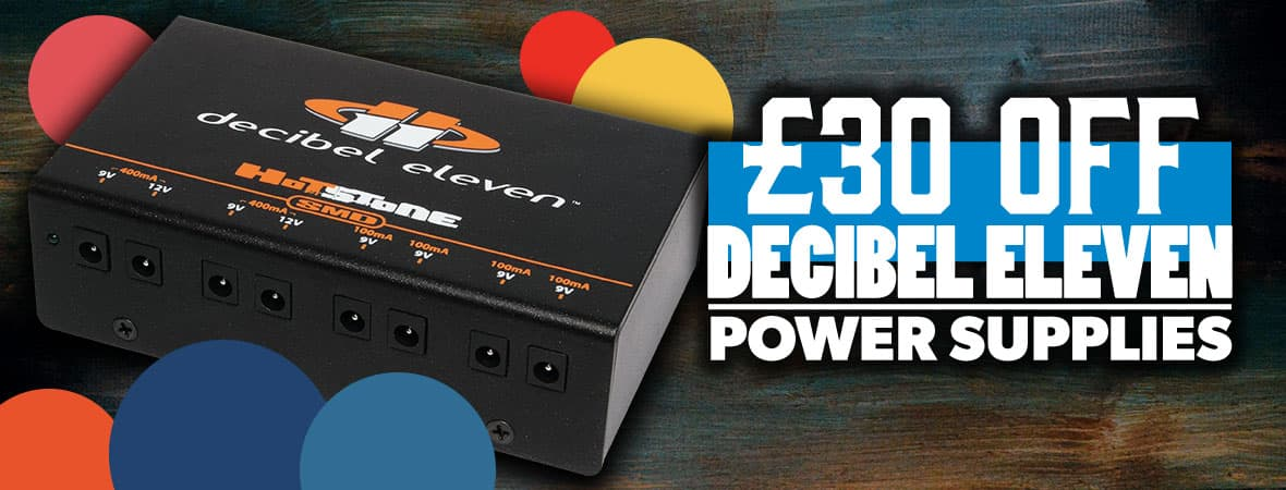 Summer Sale 2018 - £30 off Decibel Eleven pedal power supplies at Andertons Music Co!