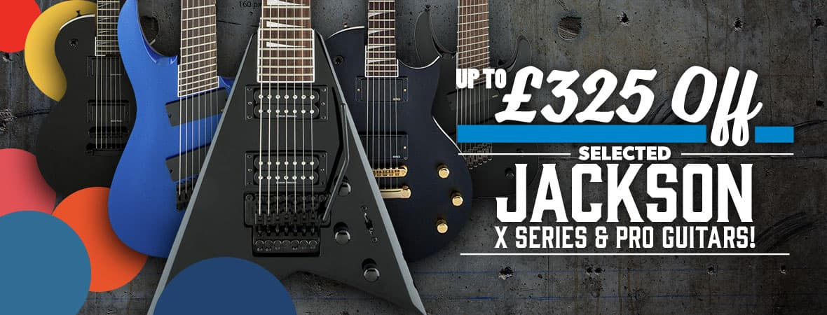 Summer Sale 2018 - Up to £325 off Jackson guitars at Andertons Music Co!