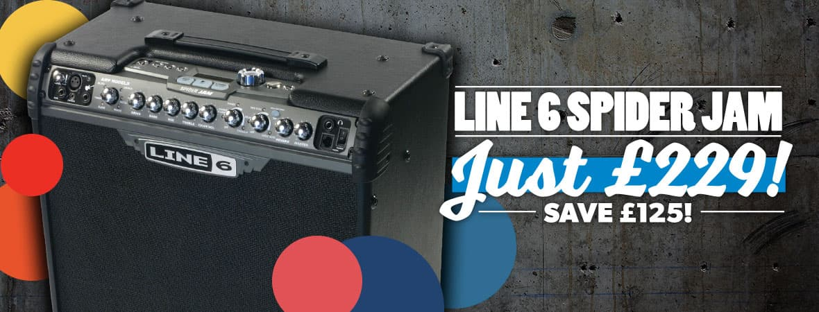 Summer Sale 2018 - Line 6 Spider Jam for just £229 at Andertons Music Co!