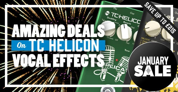 TC Helicon Vocal Effects in January Sale