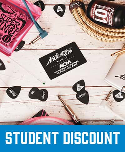 Student Discount - Andertons Music Co.