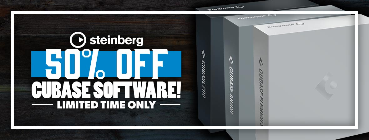 50% Off Steinberg Cubase at Andertons Music Co.