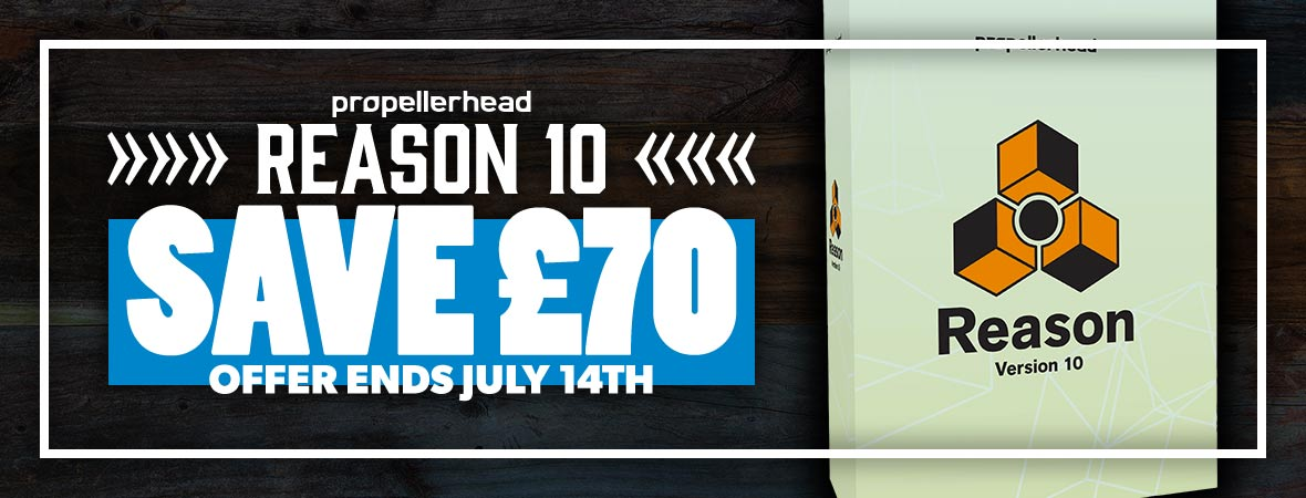 Propellerhead Reason 10 Instant Rebate Promotion at Andertons Music Co.